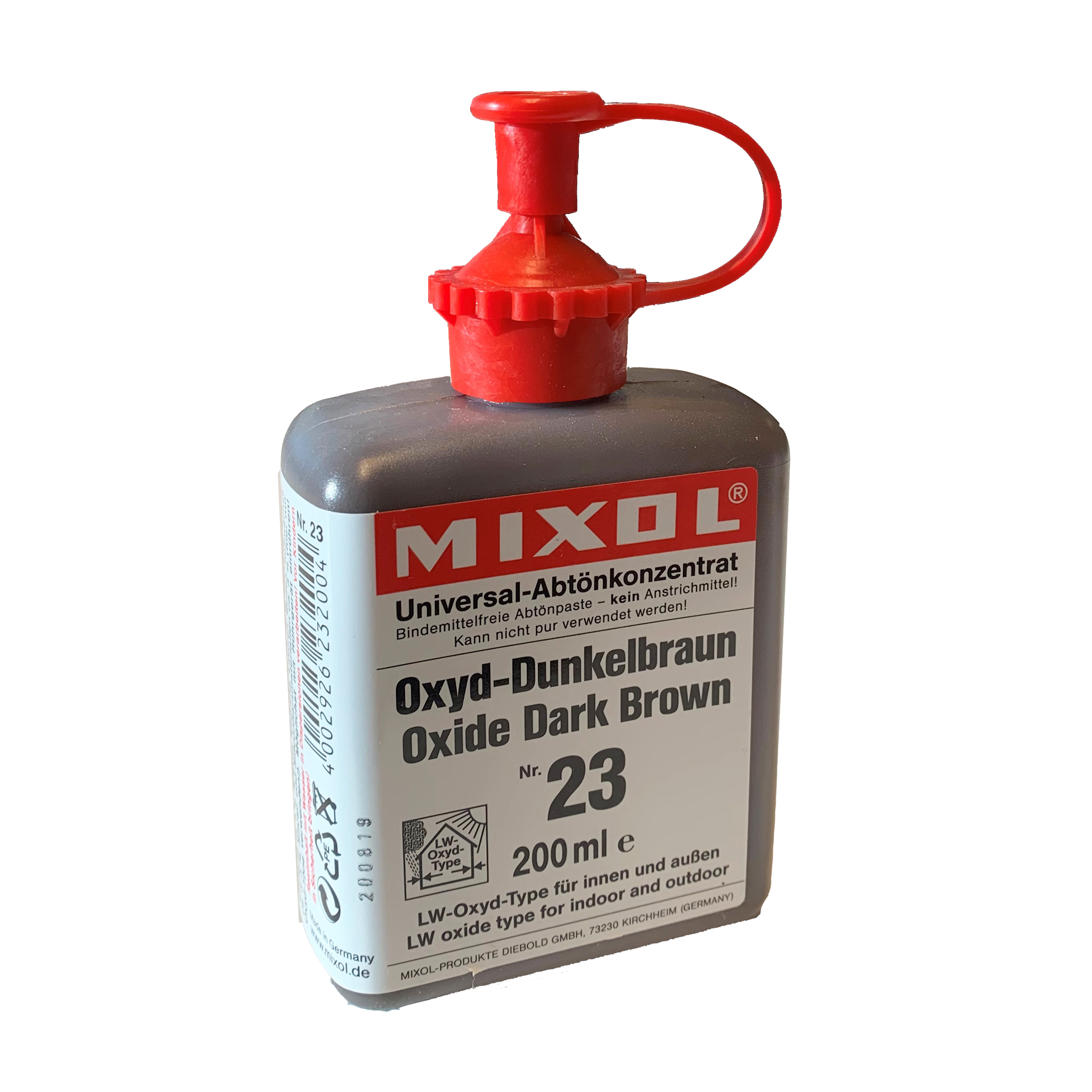 Mixol Pigment nr. 23 Dark Brown 200 ml